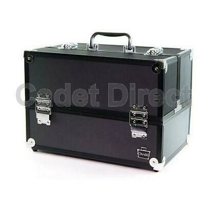 Large Professional Makeup Lockable Travel Train Case, w/ 6 Fold Out Trays