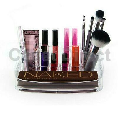 Clear Acrylic Makeup Lipstick Holder Organiser 6 Compartment Cosmetic Tray