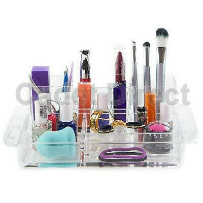 Large Luxury Acrylic Beauty Two Tower Tray Organiser w/ 14 Compartments