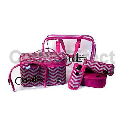 PVC | Chevron | Frequent Flyers Bag Set | Toiletry Organiser | Caboodles Stylish