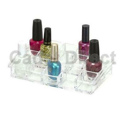 Nail Varnish Polish Organiser Box Clear Acrylic Make-up Cosmetics Lipstick