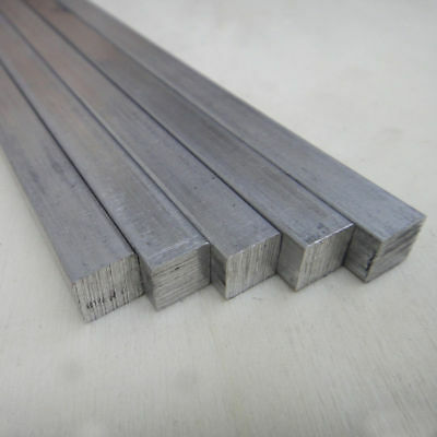 5pcs Aluminium Square Bar 8x8x200mm T6063 Aluminum Solid Metal Bars Model DIY