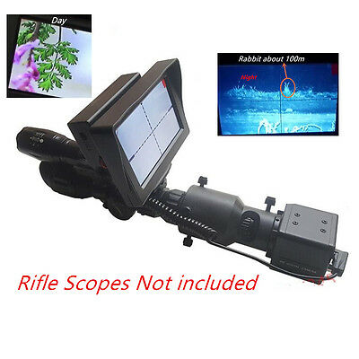 Riflescope DIY Night Vision Scope Video Output 4.3 Inch Monitor with IR Torch
