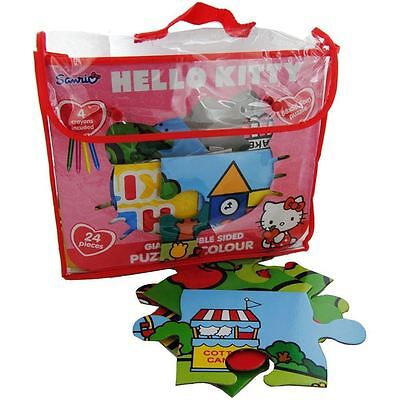 Hello Kitty 24 Pieces Giant Double Sided Puzzle & Colour 88x58.5cm