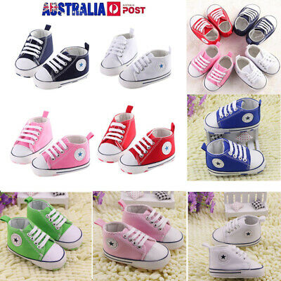 Infant Toddler Baby Boy Girl Crib Shoes Soft Sole Sneaker Newborn 0-18 Months