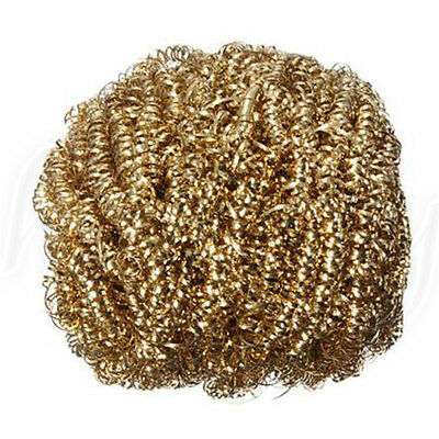 2pcs Soldering Solder Iron Tip Cleaner Brass Cleaning Wire Sponge Ball vsd