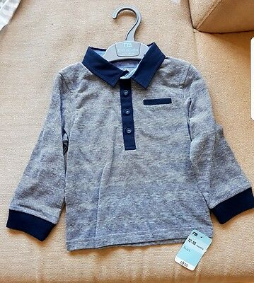 Mothercare boys long sleeved top 12-18 months BNWT