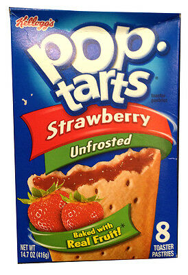 Kellogg's Pop Tarts Strawberry Unfrosted