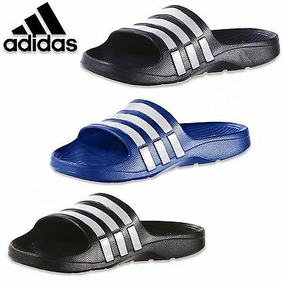 Adidas Duramo Mens Slide Flip Flops Sandals Pool Beach Shoes Trainers Thongs NEW