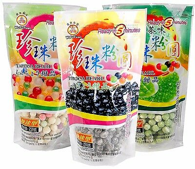 Black/Color/Green Tea Tapioca Pearls Boba Bubble Tea & Taro New Sago WuFuYuan