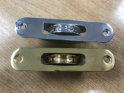 Sash Pulleys - Brass, Satin Chrome and Chrome available - boxes of 10