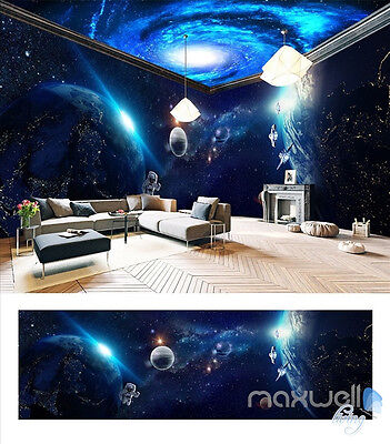 Space planet Galaxy theme entire room 3D wallpaper wall mural decals Entertainme