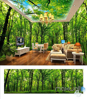 Wild forest Sky theme entire room 3D wallpaper wall mural decals