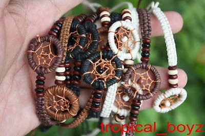 10 Earth Tone Handmade Dream Catcher Dreamcatcher Bracelets Wholesale Lot