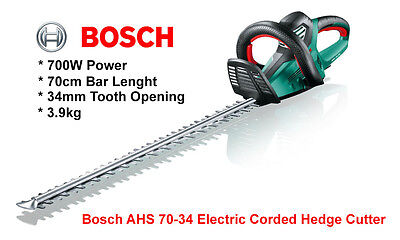 Bosch AHS 70-34 Hedge Cutter Electric Corded 70cm Bar Lenght Hedge Trimmer 700W