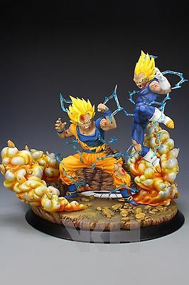 DRAGON BALL Z GOKU SS2 vs MAJIN VEGETA STATUE FIGURE FIGURA RESIN. PRE-ORDER