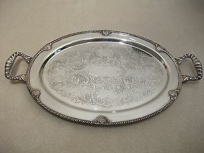 VINTAGE Federal Silver Company Oval Platter-Silverplate on Copper Post 1940-LOOK