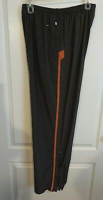 Nike Fit Dry Athletic Pants Zip Pockets & Legs Drawstring Waist Sz L