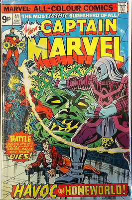 Captain Marvel (Vol 1) #41 VG- 1st Print Marvel Comics