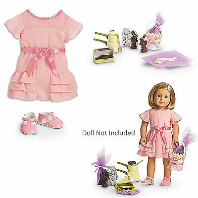 "American Girl KIT'S CANDY MAKING SET for 18"" Dolls Kit Dress Chocolate Food NEW"