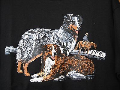 Australian Shepherd Tee Shirt - Brand New - Black Size Large!