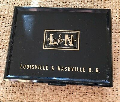 Vtg. Louisville & Nashville Railroad Double Deck Playing Cards, Plastic Box Mint