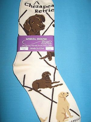 Chesapeake Bay Retriever Chessie Socks Cream Size Med. by Wheelhouse Design NWT