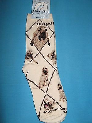 Bloodhound Socks Cream Size Medium by Wheelhouse Design NWT