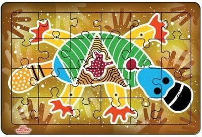 Andzee - Aboriginal Art Platypus Puzzle 24pc Educational Wooden Toy
