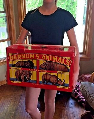 giant 1998 cardboard edition 1902 nabisco BARNUMS ANIMAL CRACKER box red /string