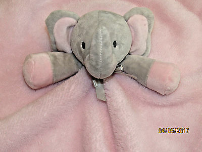 Blankets & And Beyond Baby Girls Pink Gray Security Lovey Nunu Elephant