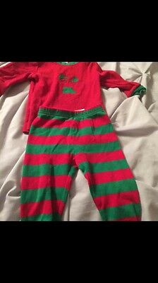 Baby Girl Or Boy Christmas Pjs Top And Bottom 12 Month Snug Fit
