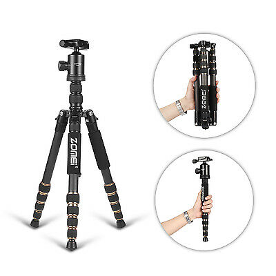 ZOMEI Z699C Carbon Fiber Tripod Monopod&Ball Head Travel for Camera Portable