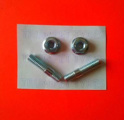 VESPA 90 SS 6MM M6 Exhaust Studs & Nuts Set VE13017 VN30501
