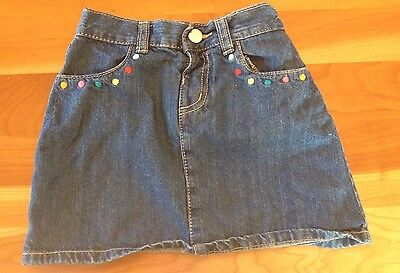 Girl's Gymboree Jean Denim Skirt Elastic Waist 4 4T