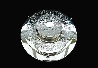 Set Of 6 Vintage Silver Plated Place Mats & 6 Coasters With Stands Original Box