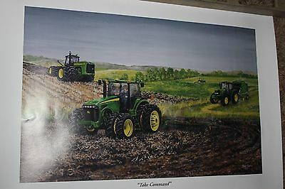 john deere print 'Take Command' by Steve Carter signed numbered