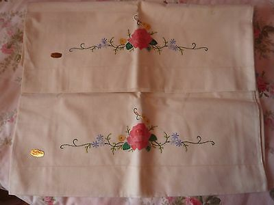 A Pair Of Unused Genuine Chinese Embroidered Pillowcases