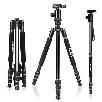 ZOMEI Z688 Aluminum Tripod Monopod&Ball Head Travel for Canon Nikon Sony Camera