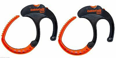 Cable Cuff PRO (2-Pack) Large, Cable Clamp, Adjustable & Reusable CFLP030808