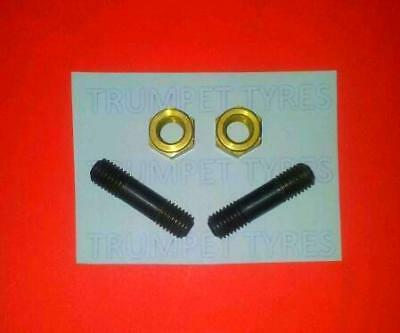 Lambretta GP 150 7mm M7 Auspuff und Messing Muttern Set Le 13011/2