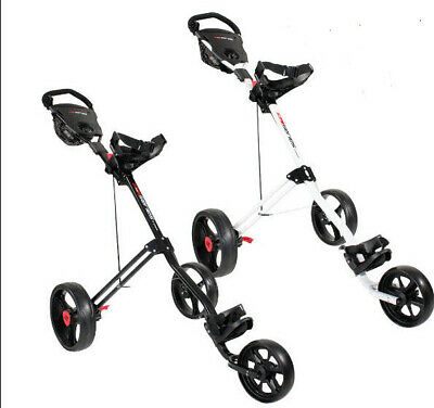 Masters 5 Series 3 Wheel Trolley Blk or White + Free Wheel Cover Set & Delivery