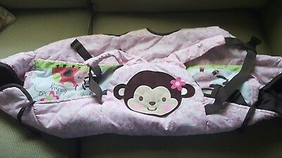 Child of Mine  Shopping Cart Cover Pink &Brown Monkey Theme
