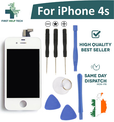 For iPhone 4S LCD Touch Screen Digitzer Replacement  Assembly White With Tools