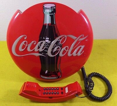 """Vintage Coca Cola Phone Sign Corded Phone """"free Shipping"""""""