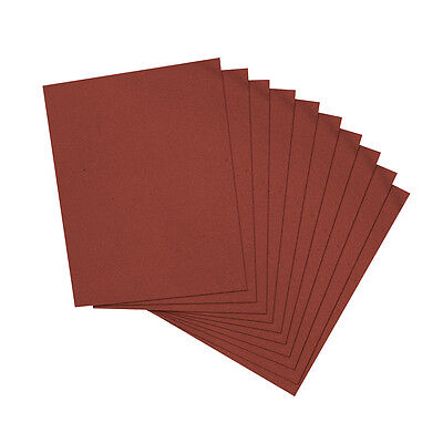 10 x Emery Cloth Sheets Sandpaper For Metal Sanding Various Grit