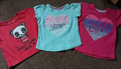 3x girl tops size 1.5-2 years (18-24 months)