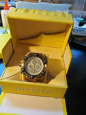 Men's 0341 Reserve Collection Arsenal Chronograph 18k Gold Watch 63mm
