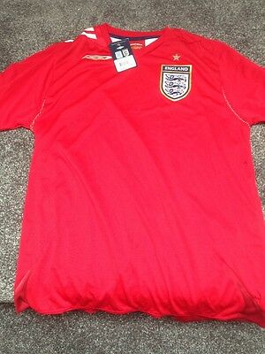 England 2006 World Cup Red Football Shirt With Tags Umbro