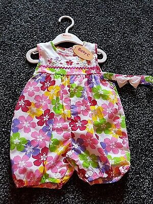 Girls summer outfit shorts size 9-12 months brand new with tags